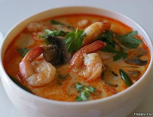 Тайский суп том ям рецепт с фото